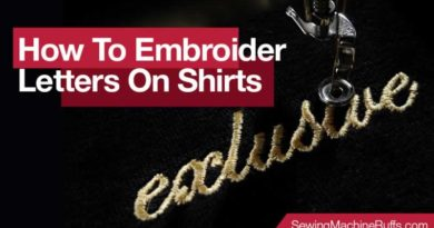 How To Embroider Letters On Shirts