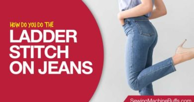 How Do You Do The Ladder Stitch On Jeans