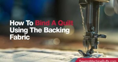 How To Bind A Quilt Using The Backing Fabric