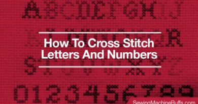 How To Cross Stitch Letters And Numbers