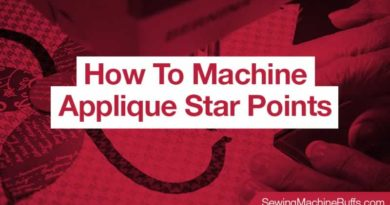 How To Machine Applique Star Points