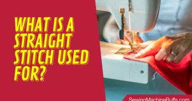 What is A Straight Stitch Used For