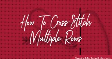 How To Cross Stitch Multiple Rows