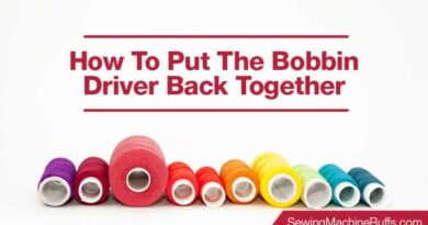 How to Put the Bobbin Driver Back Together