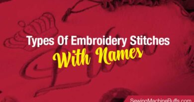 Types Of Embroidery Stitches With Names
