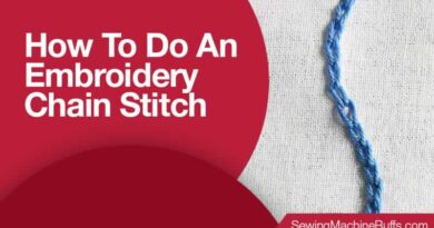 How To Do An Embroidery Chain Stitch