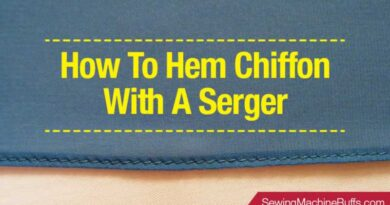 How To Hem Chiffon With A Serger