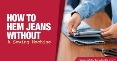 How to Hem Jeans Without A Sewing Machine