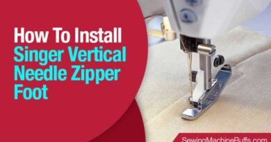 How To Install Singer Vertical Needle Zipper Foot