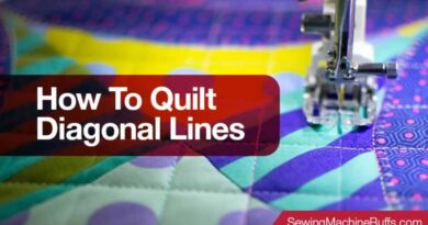How To Quilt Diagonal Lines