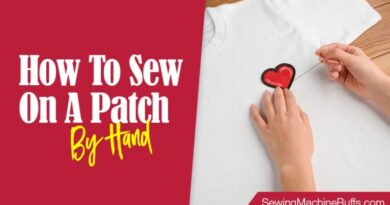 How To Sew On A Patch By Hand