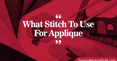 What Stitch To Use For Applique