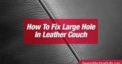 How To Fix Large Hole In Leather Couch
