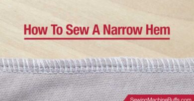 How To Sew A Narrow Hem