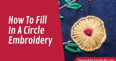 How To Fill In A Circle Embroidery