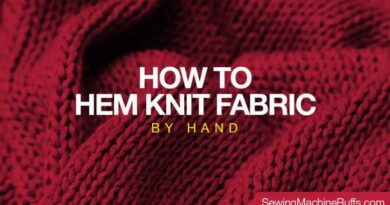 How to Hem Knit Fabric by Hand