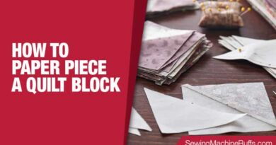 How To Paper Piece A Quilt Block