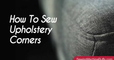 How to Sew Upholstery Corners