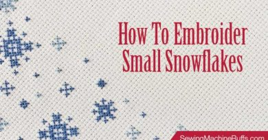 How to Embroider Small Snowflakes