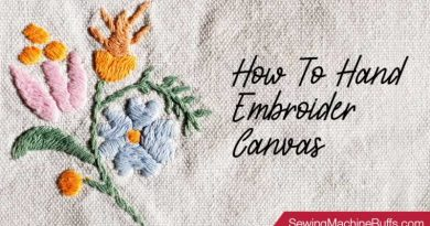 How to Hand Embroider Canvas
