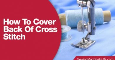 How To Cover Back Of Cross Stitch