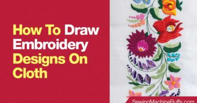 How To Draw Embroidery Designs On Cloth