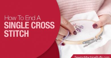 How to End a Single Cross Stitch