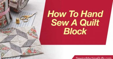 How to Hand Sew a Quilt Block