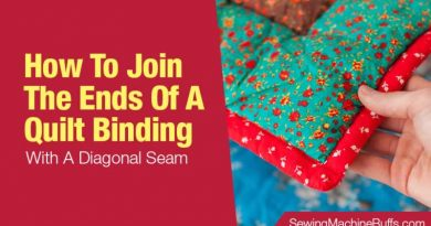 How To Join The Ends Of A Quilt Binding With A Diagonal Seam