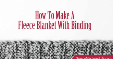 How to Make a Fleece Blanket with Binding