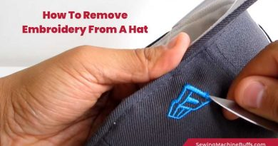 How To Remove Embroidery From A Hat