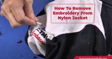 How To Remove Embroidery From Nylon Jacket
