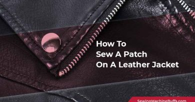 How To Sew A Patch On A Leather Jacket