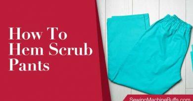 How To Hem Scrub Pants