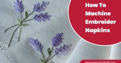 How To Machine Embroider Napkins