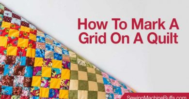 How To Mark A Grid On A Quilt