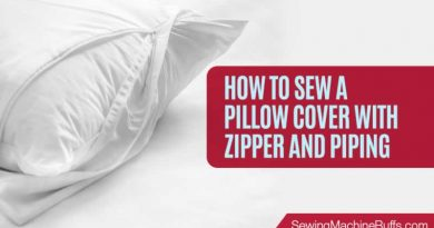 How To Sew A Pillow Cover With Zipper And Piping