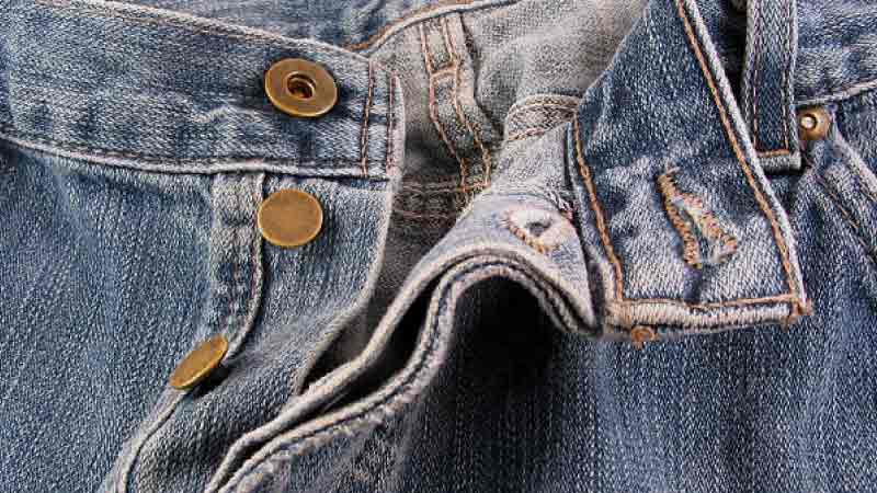 How to Replace A Button Of Your Jeans With A Regular Button With Holes