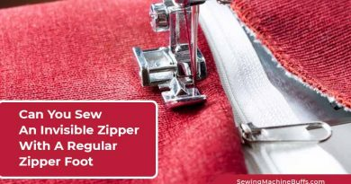 Can You Sew An Invisible Zipper With A Regular Zipper Foot