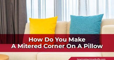 How Do You Make A Mitered Corner On A Pillow