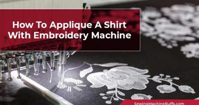 How To Applique A Shirt With Embroidery Machine