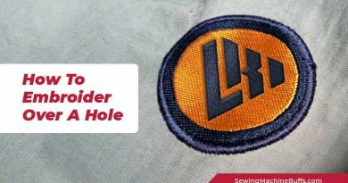 How To Embroider Over A Hole
