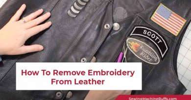 How To Remove Embroidery From Leather