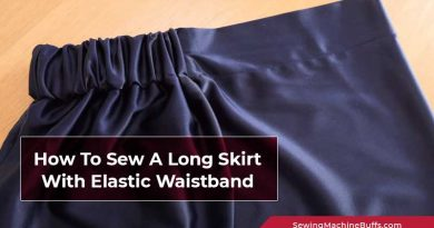 How To Sew A Long Skirt With Elastic Waistband
