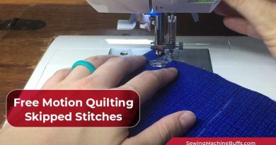 Free Motion Quilting Skipped Stitches