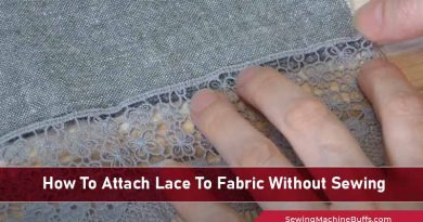 How To Attach Lace To Fabric Without Sewing