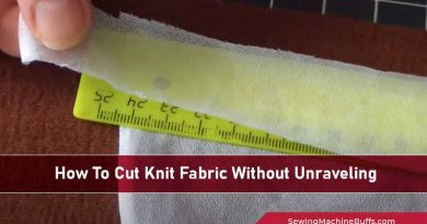 How To Cut Knit Fabric Without Unraveling