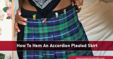 How To Hem An Accordion Pleated Skirt