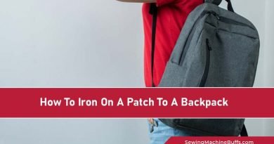 How To Iron On A Patch To A Backpack