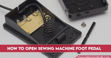 How To Open Sewing Machine Foot Pedal